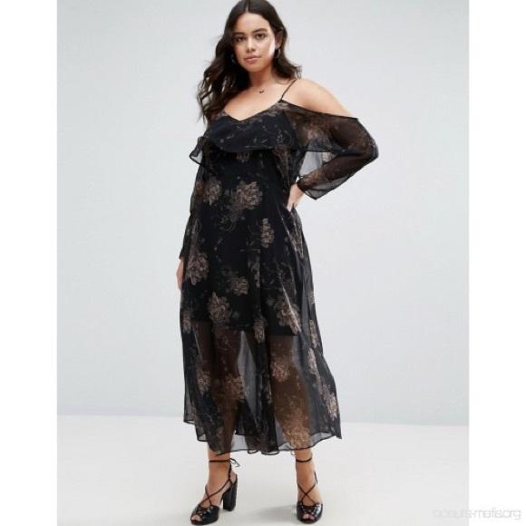 River Island Dresses | Plus Size Boho Maxi Dress 24 | Poshmark